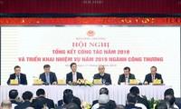 阮春福出席工贸部2018年工作总结会议