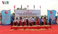 广平省在峥河岸边建设青年突击队纪念碑