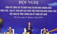 阮春福主持美朝首脑会晤组织工作总结会议