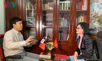 中南博集天卷文化传媒有限公司代表就《战争哀歌》接受本台记者采访