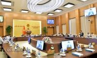 越南国会常委会继续向各部法律草案提供意见