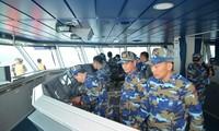 越中海上警察举行北部湾渔业联合检查