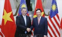越南政府副总理兼外长范平明与马来西亚外长赛富丁举行会谈