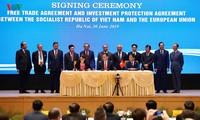 《越欧自贸协定》和《越欧投资保护协定》签署仪式在河内举行