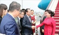 越南国会主席阮氏金银抵达北京