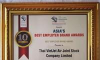 泰国越捷航空荣获亚洲最佳雇主品牌奖