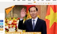 សារព័ត៌មានអន្តរជាតិផ្សព្វផ្សាយជាច្រើនអំពីការចែករំលែកទុក្ខចំពោះ មរណភាពរបស់ប្រធានរដ្ឋវៀតណាម លោក Tran Dai Quang