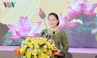 ប្រធានរដ្ឋសភាវៀតណាមលោកស្រី Nguyen Thi Kim Ngan ចូលរួមពិធីរំលឹកខួបលើកទី ៦០ ទិវាលោកប្រធានហូជីមិញអញ្ជើញទៅទស្សនាខេត្ត Bac Ninh