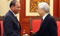 អគ្គលេខាបក្ស ប្រធានរដ្ឋវៀតណាមលោក Nguyen Phu Trong អញ្ជើញទទួលជួបគណប្រតិភូជាន់ខ្ពស់ក្រសួងសន្តិសុខឡាវ