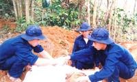 Đội 584 tìm thêm được 13 hài cốt liệt sĩ là quân tình nguyện và chuyên gia Việt Nam hy sinh tại Lào