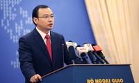 Việt Nam kiên quyết yêu cầu Trung Quốc chấm dứt các hành động xâm phạm chủ quyền