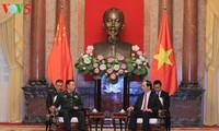 Chủ tịch nước Trần Đại Quang tiếp Phó Chủ tịch Quân ủy Trung ương Trung Quốc Phạm Trường Long