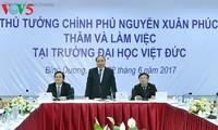 Thủ tướng Nguyễn Xuân Phúc gợi ý mục tiêu phát triển mới cho Trường Đại học Việt Đức