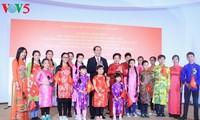 Chủ tịch nước Trần Đại Quang gặp mặt cán bộ nhân viên Đại sứ quán và đại diện cộng đồng lưu học sinh