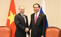 Chủ tịch nước Trần Đại Quang cùng Đoàn đại biểu cấp cao VN bắt đầu thăm chính thức Liên bang Nga