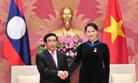 Chủ tịch Quốc hội Nguyễn Thị Kim Ngân tiếp Phó Chủ tịch nước Lào