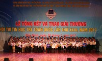 Trao giải hội thi Tin học trẻ toàn quốc lần thứ XXIII năm 2017