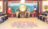 Chủ tịch Quốc hội Nguyễn Thị Kim Ngân chào xã giao Tổng Bí thư, Chủ tịch nước Lào Bounnhang Volachit