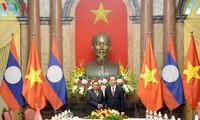 Chủ tịch nước Trần Đại Quang hội kiến Tổng Bí thư, Chủ tịch nước Lào Bounnhang Vorachith