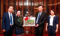 Đoàn đại biểu Ủy ban Trung ương Mặt trận Lào xây dựng đất nước thăm, làm việc tại Quảng Ninh