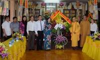 Trưởng Ban Dân vận Trung ương, Trương Thị Mai thăm Hội đồng Trị sự Trung ương Giáo hội Phật giáo VN