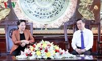 Chủ tịch Quốc hội Nguyễn Thị Kim Ngân thăm làm việc tại tỉnh Bạc Liêu