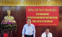Chủ tịch Ủy ban Trung ương Mặt trận Tổ quốc Việt Nam Trần Thanh Mẫn làm việc tại Quảng Nam