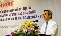 Trưởng Ban Kinh tế Trung ương VN tiếp Đoàn công tác Liên minh Diễn đàn doanh nghiệp VN