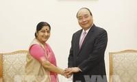 Thủ tướng Nguyễn Xuân Phúc tiếp Bộ trưởng Ngoại giao Ấn Độ Sushma Swaraj