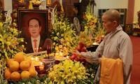 Chư tăng, phật tử Lào – Việt tại Lào cầu siêu, tưởng niệm Chủ tịch nước Trần Đại Quang