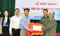 Lễ tiếp nhận tư liệu, hiện vật do Trung ương Hội Cựu Thanh niên xung phong Việt Nam