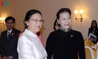 Chủ tịch Quốc hội hội kiến Chủ tịch Quốc hội CHDCND Lào