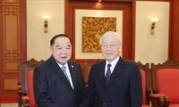Tổng Bí thư, Chủ tịch nước Nguyễn Phú Trọng tiếp Phó thủ tướng, Bộ trưởng Quốc phòng Thái Lan Prawit Wongsuwan