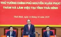 Thủ tướng Nguyễn Xuân Phúc làm việc với lãnh đạo chủ chốt tỉnh Thái Bình