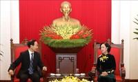 Trưởng Ban Dân vận Trung ương Trương Thị Mai tiếp Đoàn đại biểu Quỹ Tống Khánh Linh