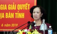 Trưởng ban Dân vận Trung ương Trương Thị Mai: Đặt quyền lợi người dân lên đầu khi giải quyết các vụ việc phức tạp