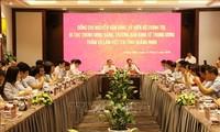 Trưởng Ban Kinh tế Trung ương Nguyễn Văn Bình làm việc tại Quảng Ninh