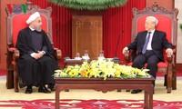 Генсекретарь ЦК КПВ Нгуен Фу Чонг принял президента Ирана Хасана Роухани