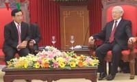 Нгуен Фу Чонг принял высшую делегацию партии и государства Лаоса