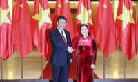Председатель Нацсобрания Вьетнама встретилась с генсекретарём ЦК Компартии Китая