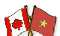 Поздравительные телеграммы по случаю 45-летия со дня установления дипотношений с Канадой