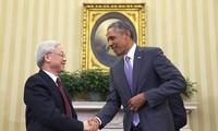การเยือนสหรัฐของเลขาธิการใหญ่พรรคเปิดหน้าใหม่ให้แก่ความสัมพันธ์เวียดนาม-สหรัฐ