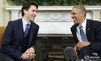 สหรัฐและแคนาดาให้คำมั่นที่จะผลักดันข้อตกลงทีพีพีและต่อต้านการเปลี่ยนแปลงของสภาพภูมิอากาศ