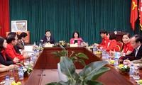ประธานประเทศแลกเปลี่ยนข้อราชการกับสภากาชาดส่วนกลางเวียดนาม