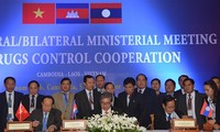 เวียดนาม กัมพูชาและลาวออกแถลงการณ์ร่วมด้านความร่วมมือป้องกันและปราบปรามยาเสพติด