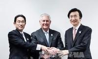 สหรัฐ สาธารณรัฐเกาหลีและญี่ปุ่นประณามการทดลองยิงขีปนาวุธนำวิถีของเปียงยาง