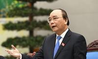 นายกรัฐมนตรีให้การต้อนรับประธานเครือบริษัทWarburg Pincusของสหรัฐและผู้อำนวยการของWBในเวียดนาม