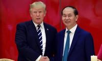 ประธานประเทศเวียดนามจัดงานเลี้ยงเพื่อเป็นเกียรติแด่ประธานาธิบดีโดนังด์ ทรัมป์