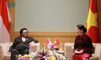 ประธานสภาแห่งชาติเวียดนามให้การต้อนรับคณะผู้แทนรัฐสภาอินโดนีเซียและมาเลเซีย