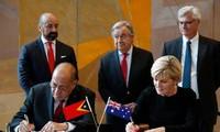 ออสเตรเลียและติมอร์เลสเตลงนามสนธิสัญญาเกี่ยวกับการกำหนดเส้นแบ่งพรมแดนทางทะเลครั้งประวัติศาสตร์